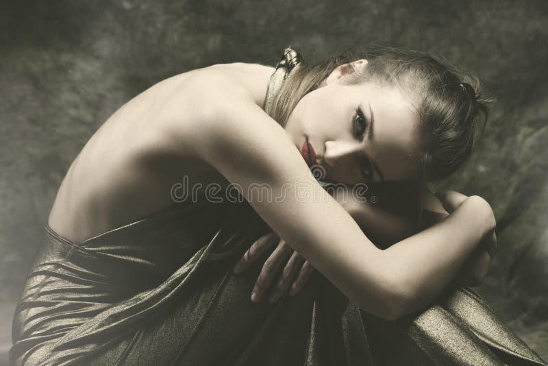 Mulher nova sensual fotografia de stock royalty free