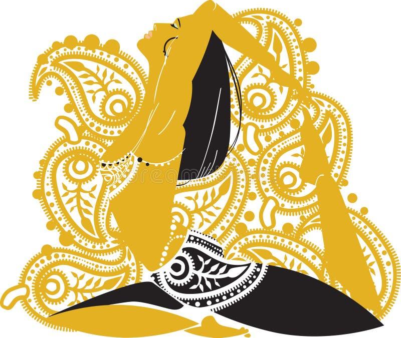 Mulher oriental ilustração stock