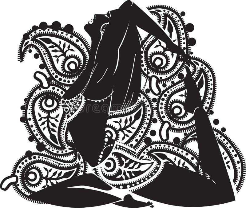 Mulher oriental ilustração do vetor