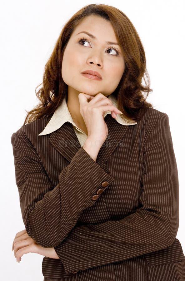 Mulher pensativa imagem de stock
