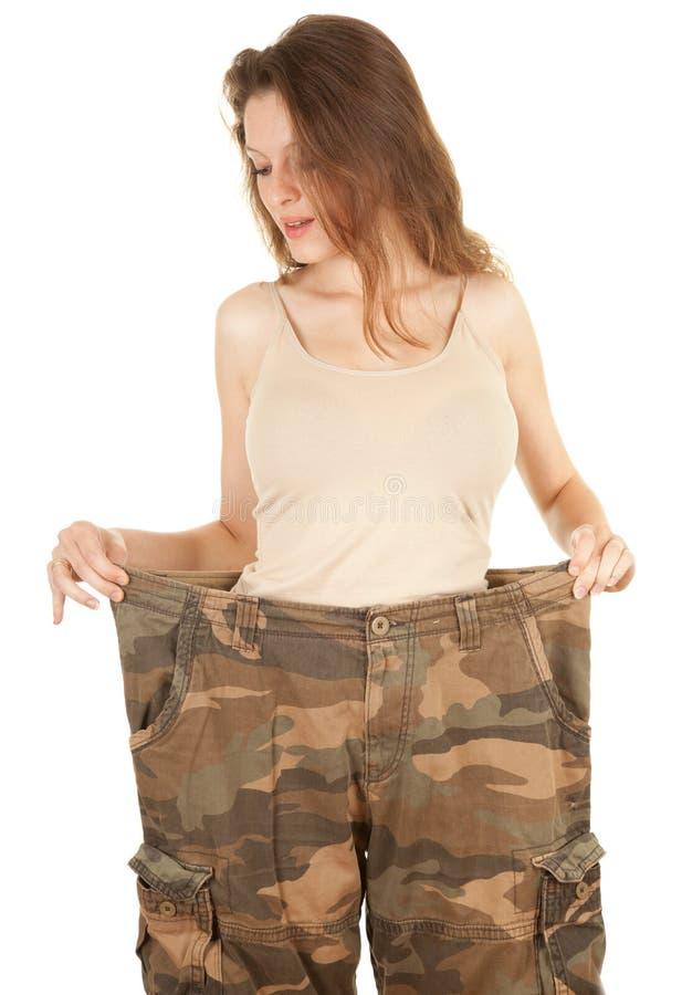 Mulher perdida do peso fotografia de stock