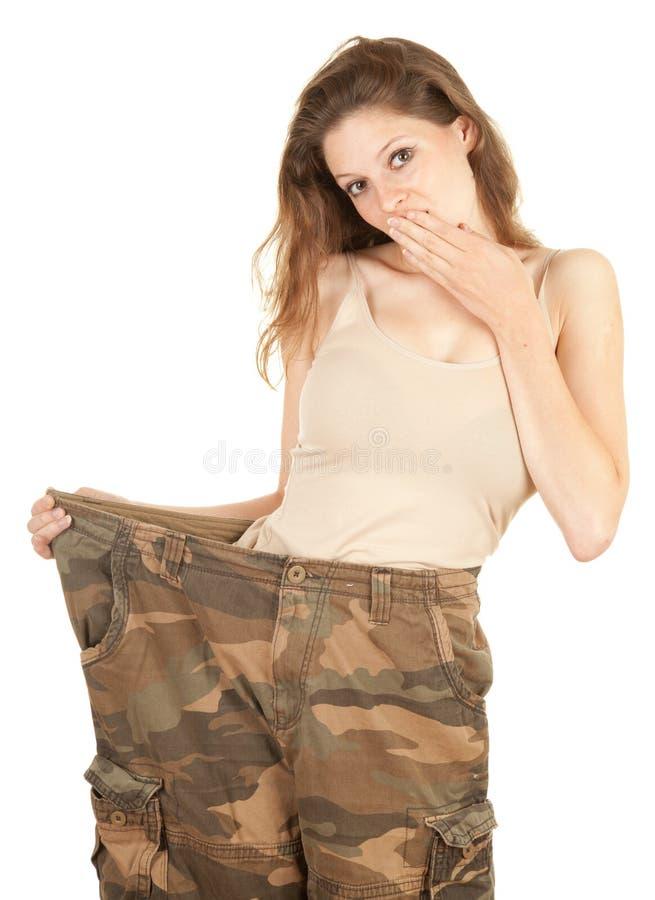 Mulher perdida do peso imagens de stock