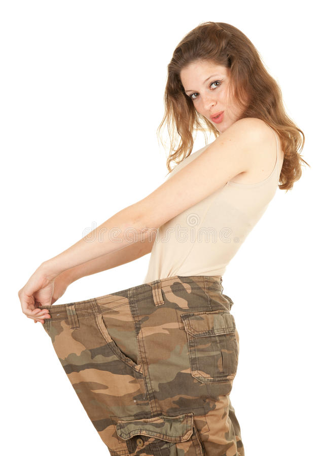 Mulher perdida do peso foto de stock royalty free