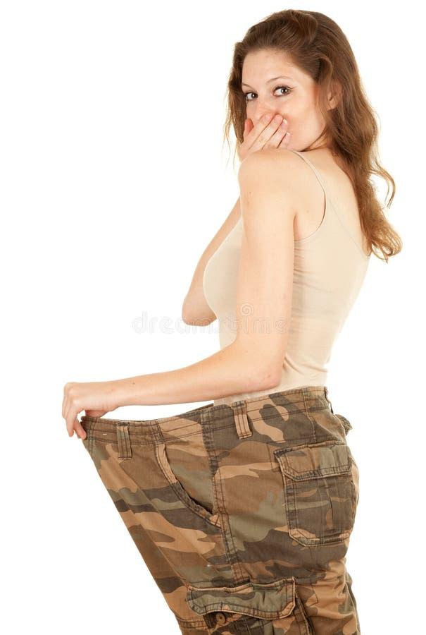Mulher perdida do peso foto de stock