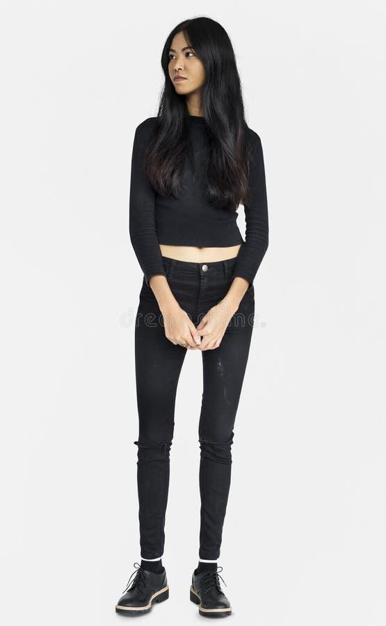 A mulher perfurou o nariz Ring Confidence Self Esteem Portrait imagens de stock