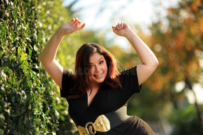 Mulher positiva do tamanho fotos de stock royalty free