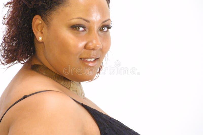 Mulher preta bonita imagens de stock