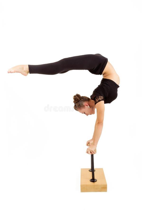 Mulher profissional nova da ginasta imagem de stock