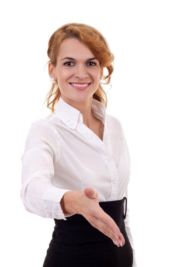 Download Mulher Pronta Para Agitar As Mãos Foto de Stock - Imagem de handshake, mão: 16865892