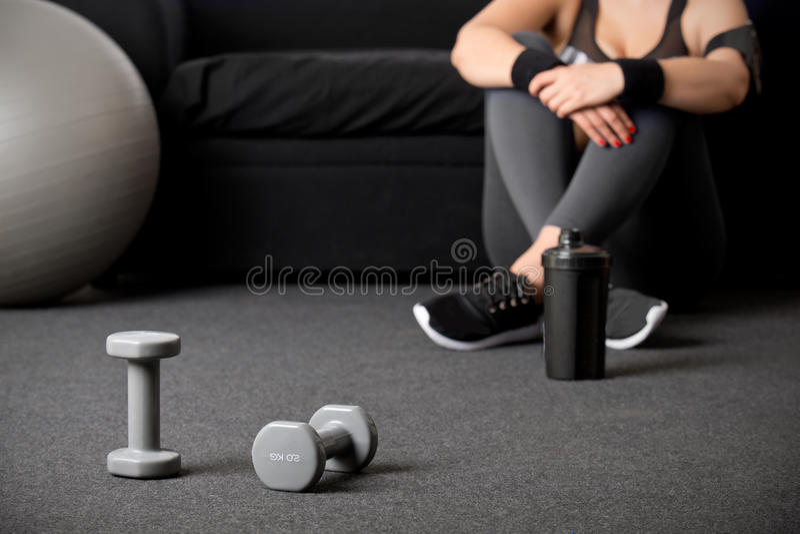 Download Mulher Que Dá Certo Em Sua Casa Foto de Stock - Imagem de sporty, ajuste: 80102894
