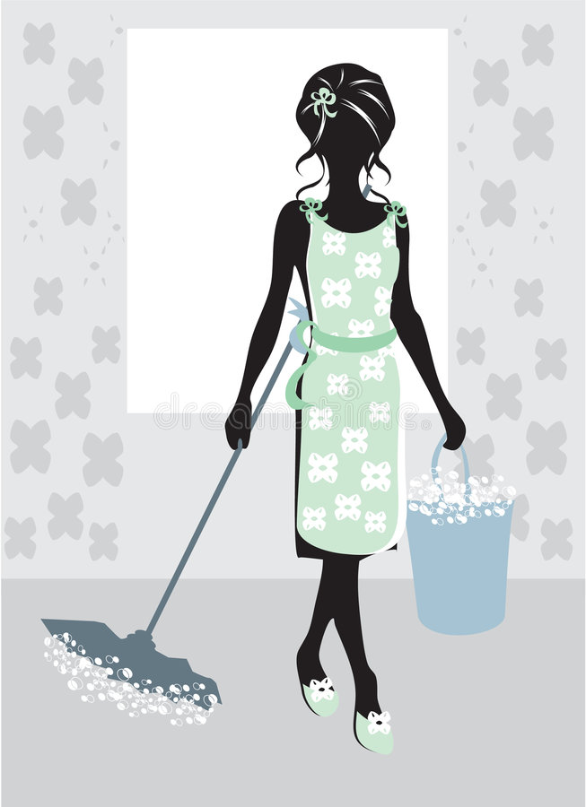 A mulher que faz trabalhos de casa