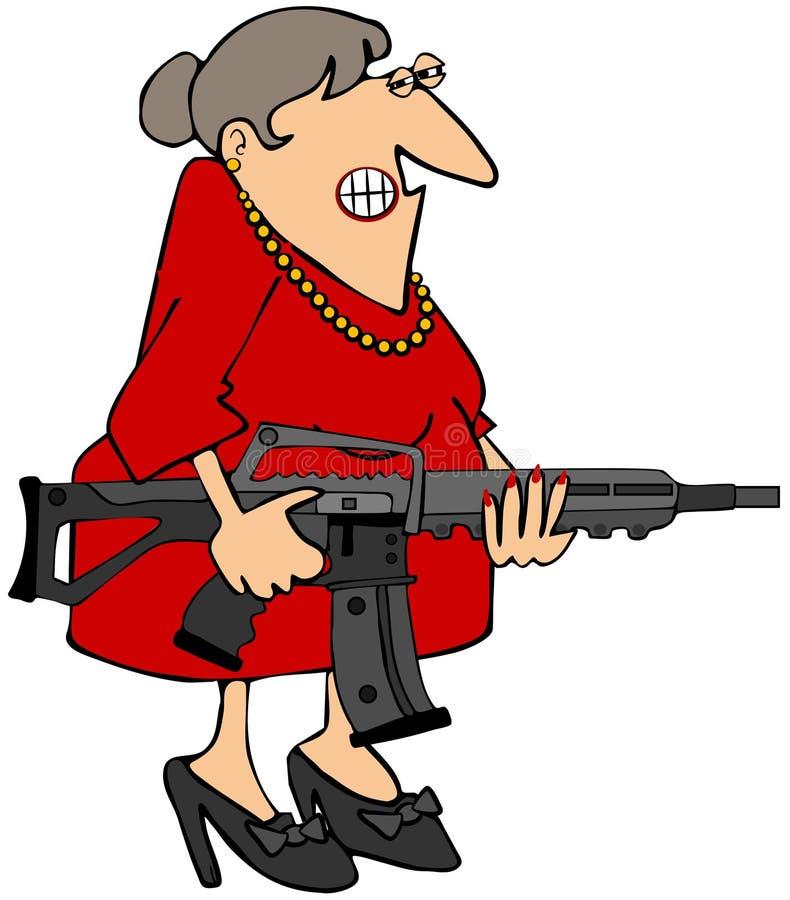 Mulher que guardara um rifle