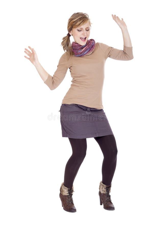 Mulher que levanta no estúdio fotos de stock royalty free