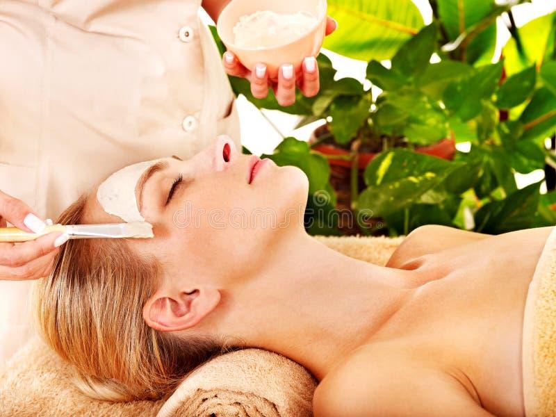 Mulher que obtem a massagem facial. imagens de stock royalty free
