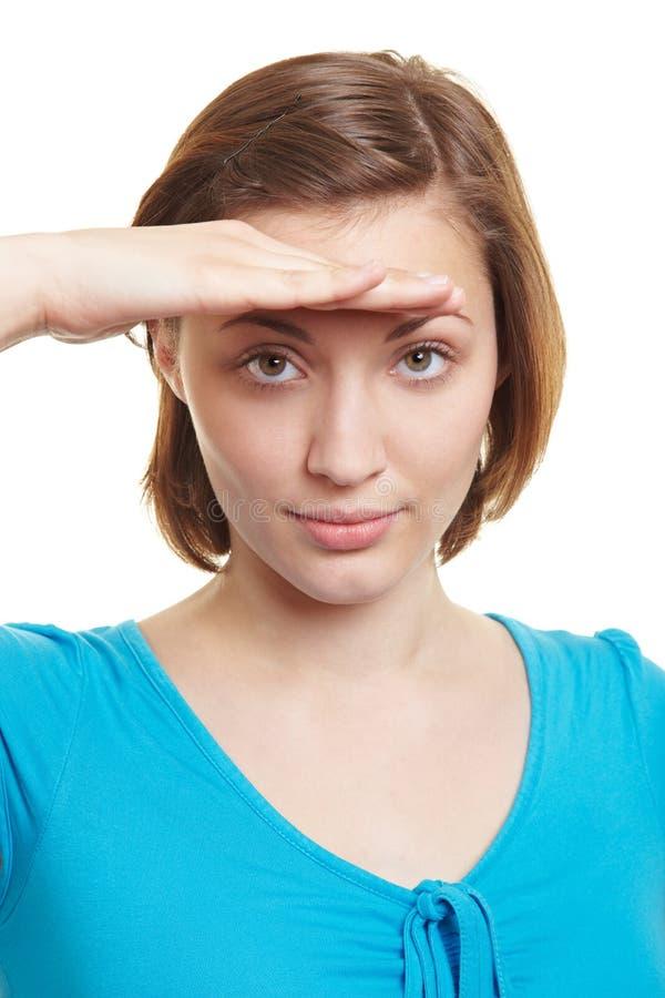 Mulher Que Olha Na Distância Imagem de Stock Royalty Free