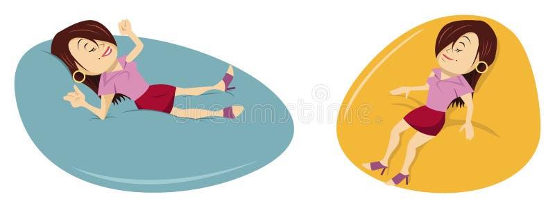 Mulher que relaxa ilustração stock
