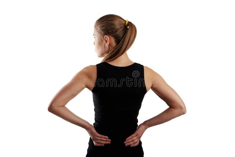 Mulher que sofre da dor imagens de stock