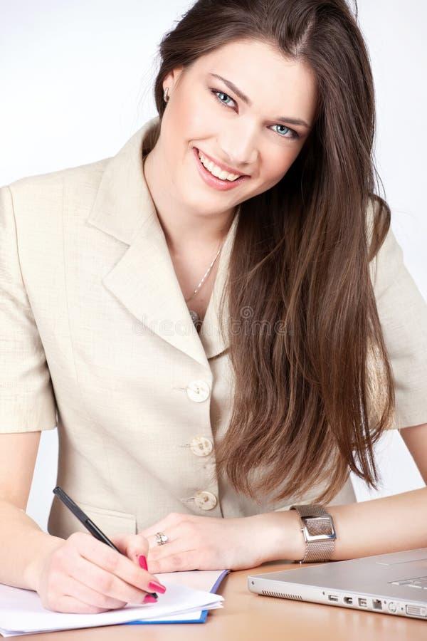 Mulher que toma notas imagens de stock royalty free