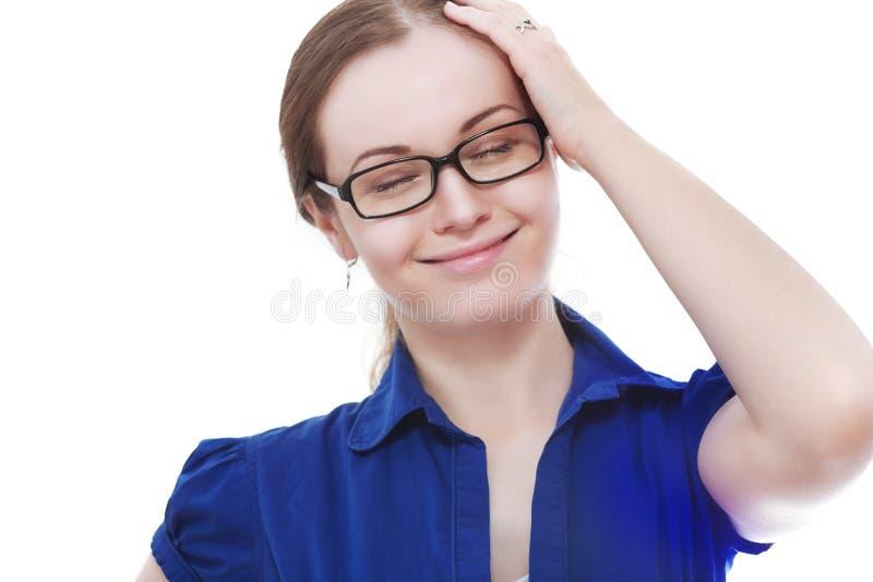 A mulher recordou algo imagens de stock royalty free