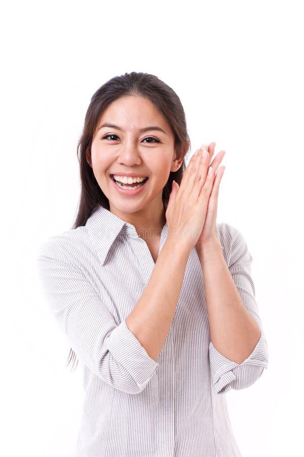 Mulher retirada, feliz, satisfeita fotografia de stock royalty free