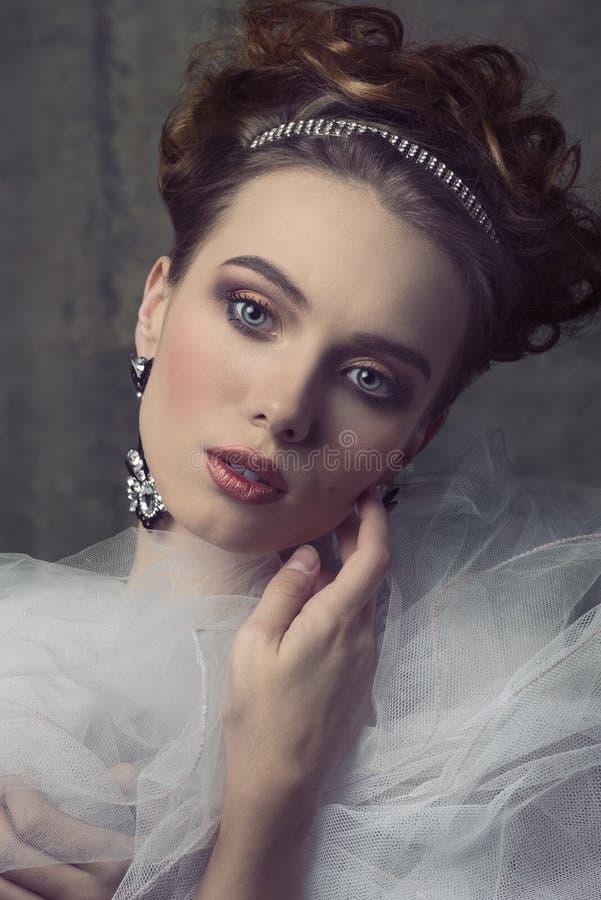 Mulher retro aristocrática foto de stock