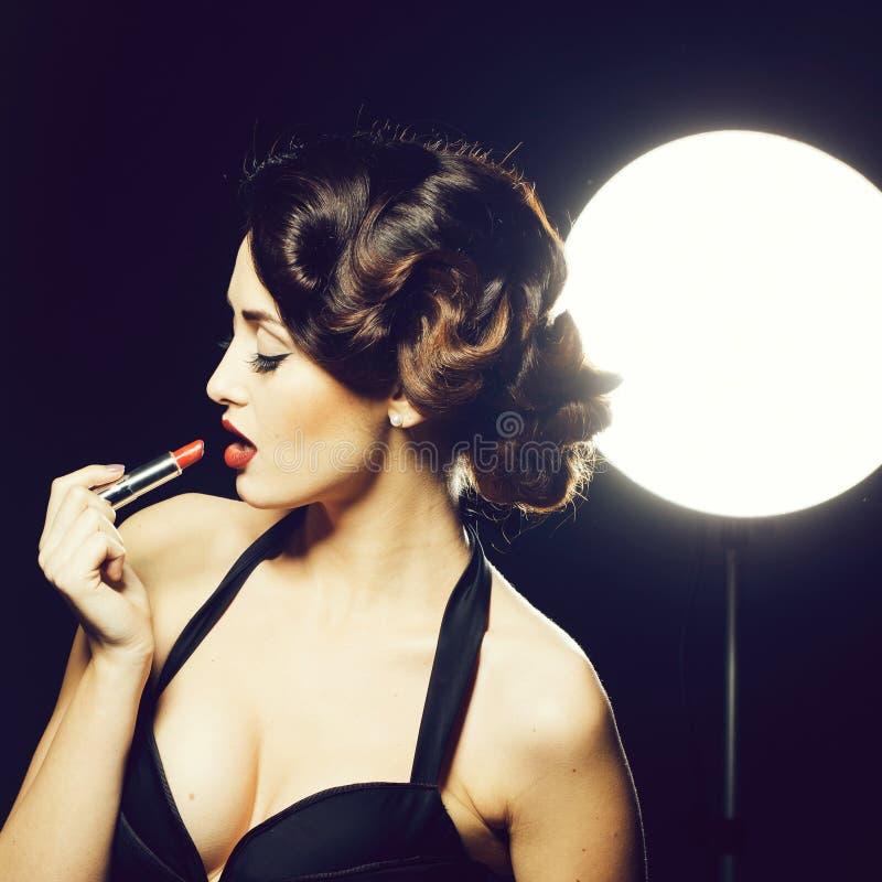 Mulher retro 'sexy' fotos de stock royalty free