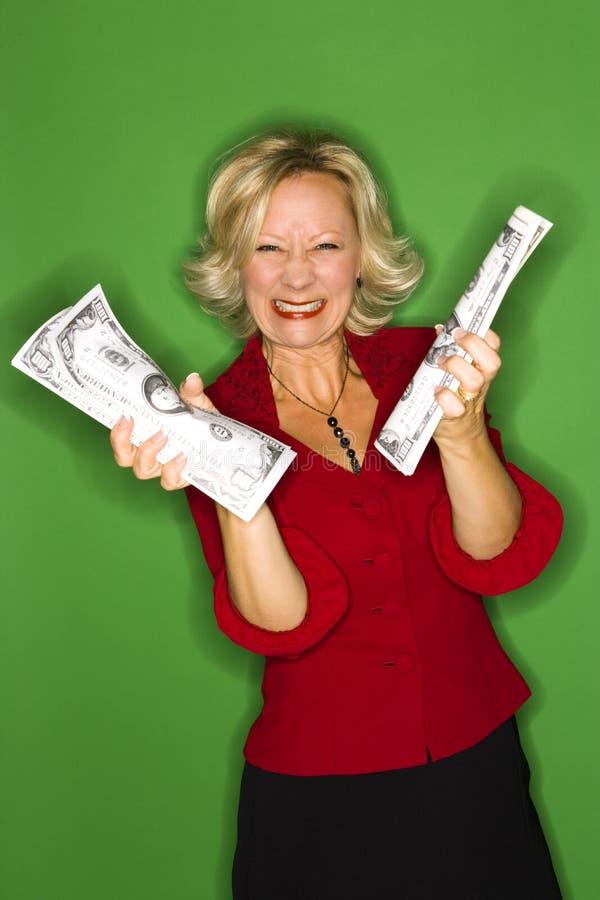 Mulher rica imagens de stock royalty free
