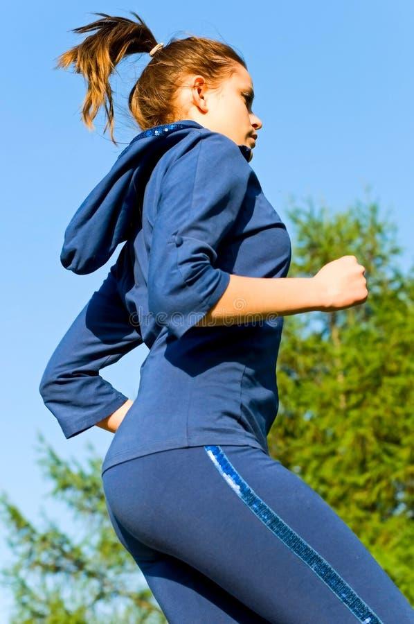 Mulher Running foto de stock