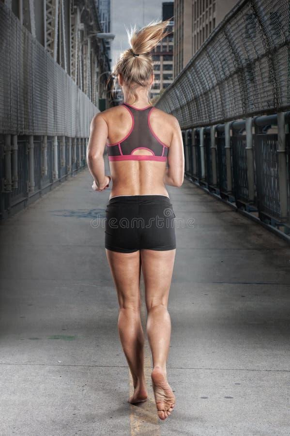 Mulher Running foto de stock royalty free