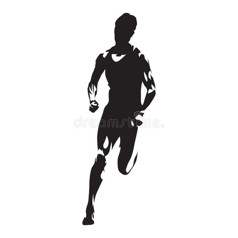 Mulher running, silhueta correndo abstrata do vetor da mulher ilustração do vetor