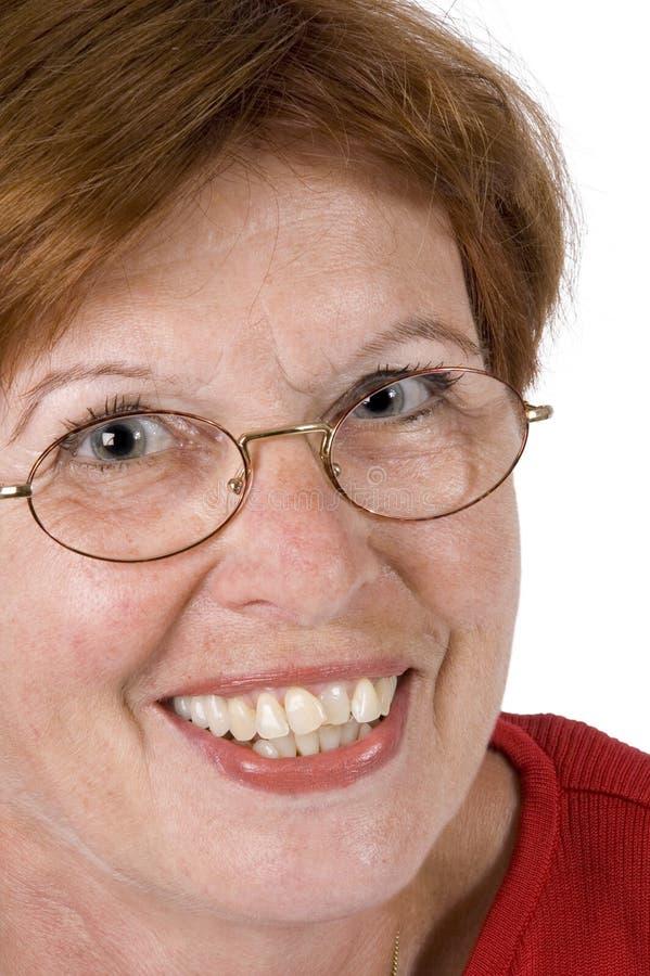 Mulher sênior 1 de sorriso imagem de stock