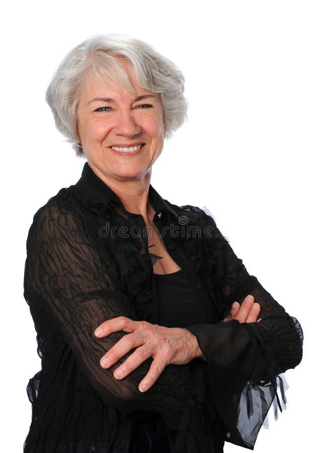 Mulher sênior confiável foto de stock royalty free