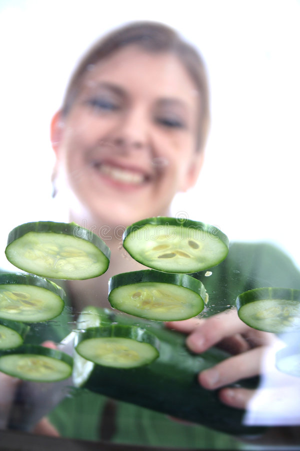 Download Mulher saudável foto de stock. Imagem de salad, falta, mulher - 542180