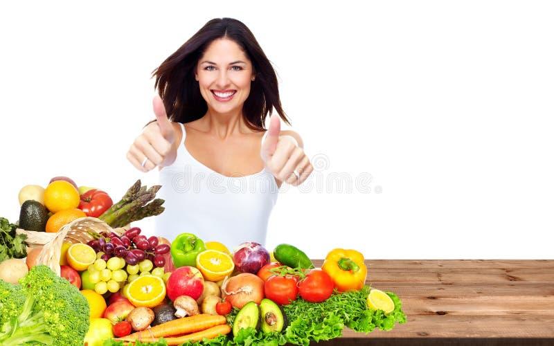Mulher saudável feliz fotos de stock