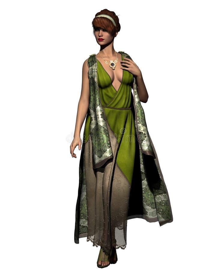 Mulher saxona ilustração stock