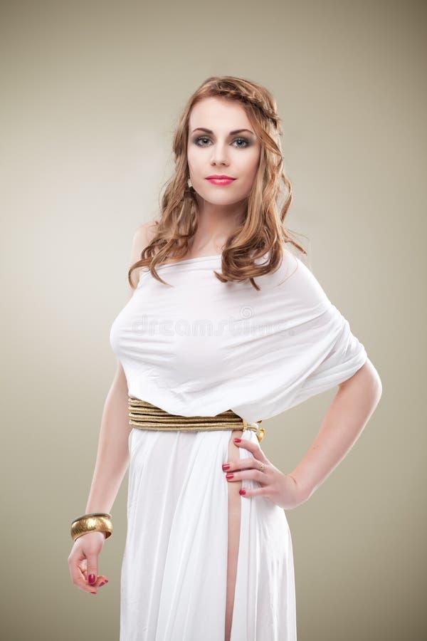 Mulher sedutor de greece alta imagens de stock royalty free