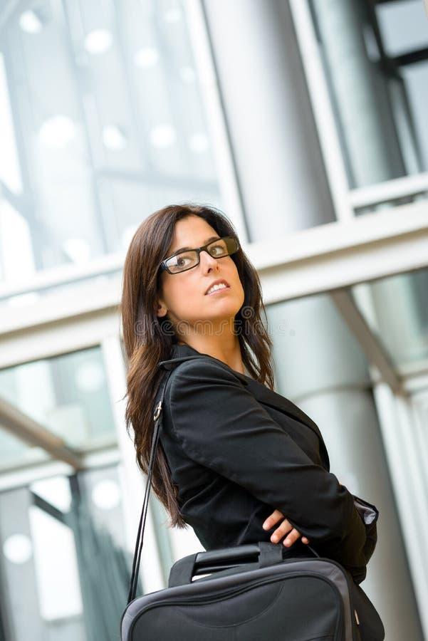 Mulher segura do executivo empresarial foto de stock