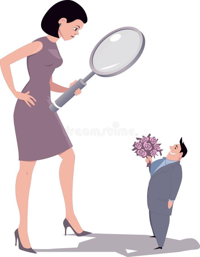 Mulher seletivo ilustração do vetor