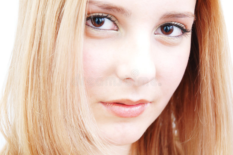 Mulher self-confident bonita imagens de stock