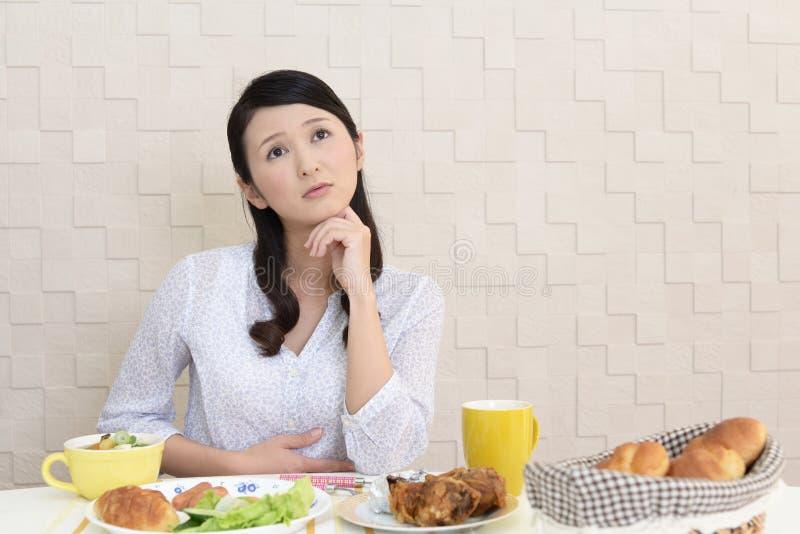 Mulher sem o apetite imagens de stock royalty free