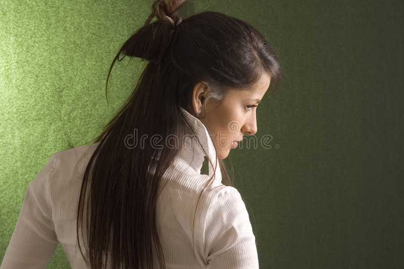 Mulher sensual do retrato fotos de stock royalty free