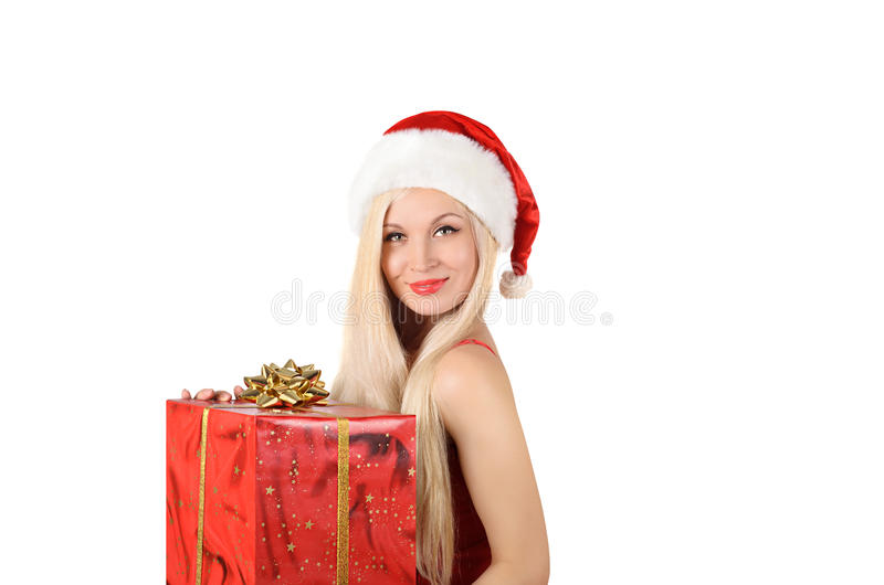 Mulher 'sexy' bonita de Santa imagem de stock royalty free