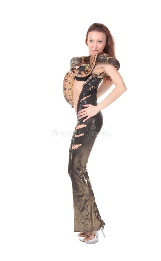 Mulher 'sexy' com sua boa foto de stock royalty free