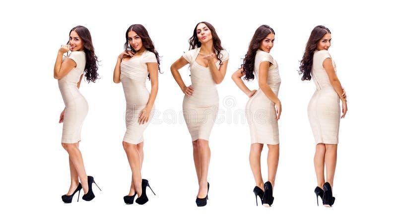 Mulher 'sexy' da colagem cinco fotografia de stock royalty free