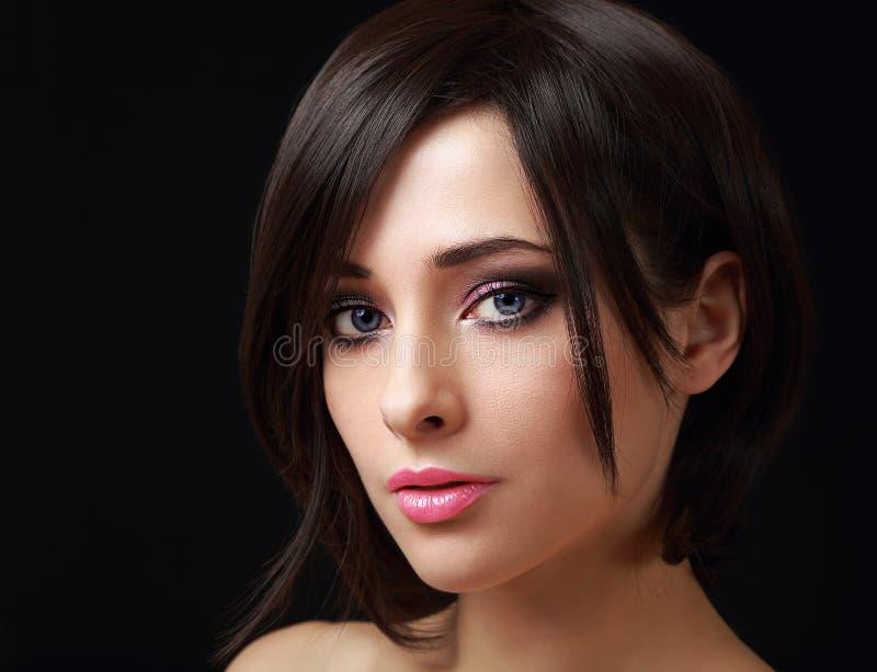 Mulher 'sexy' da composição com preto curto imagem de stock royalty free