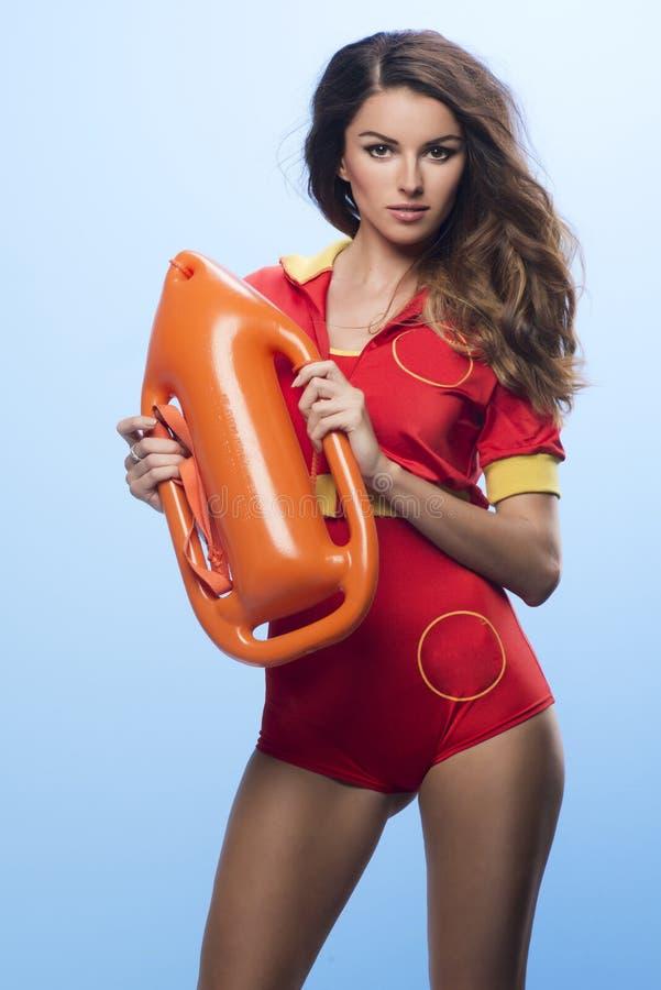 Mulher 'sexy' da salva-vidas da beleza fotos de stock royalty free