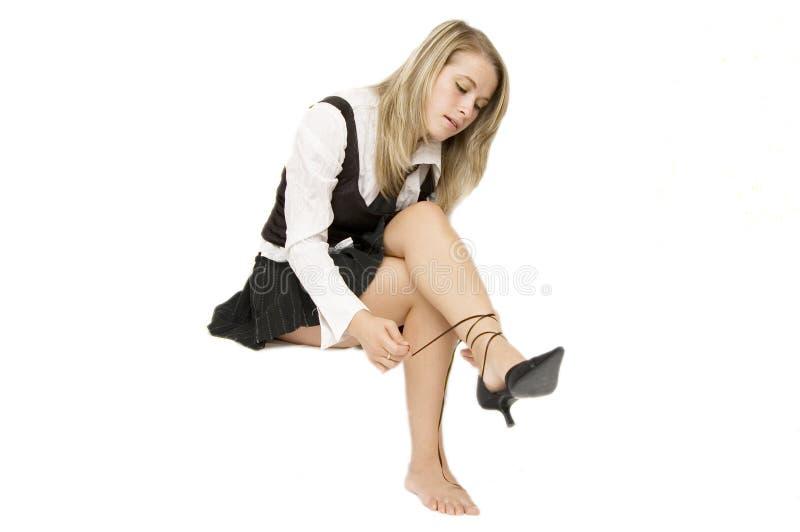 Mulher 'sexy' de Blondie imagens de stock royalty free
