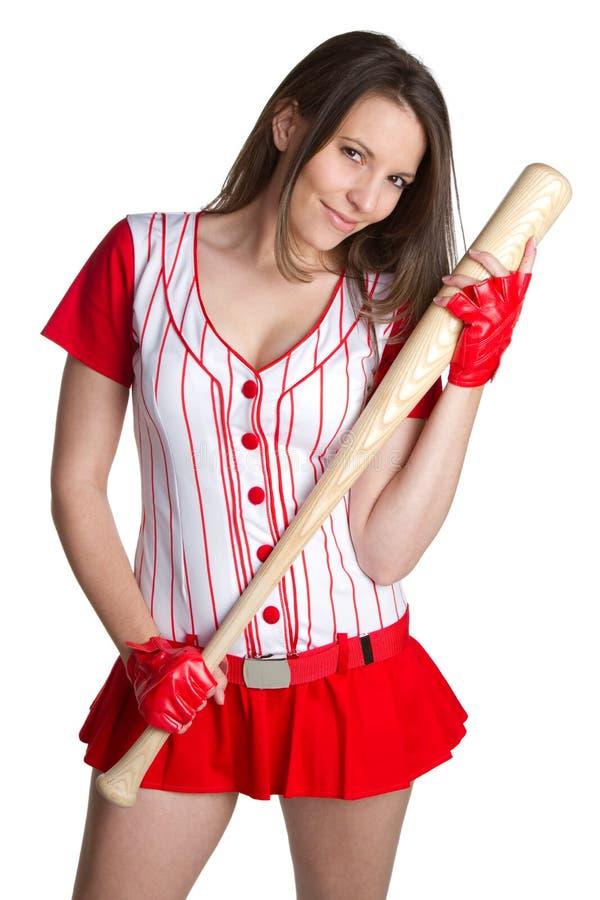 Mulher 'sexy' do basebol imagens de stock