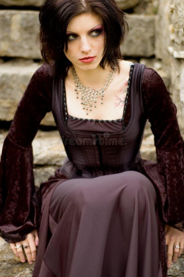 Mulher 'sexy' do vampiro fotos de stock royalty free