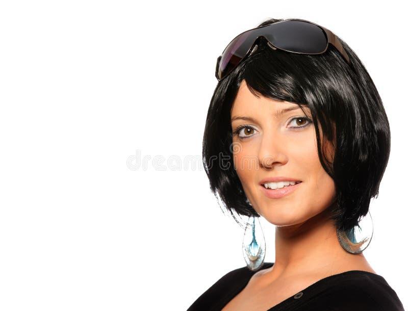 Mulher 'sexy' no cabelo preto imagens de stock